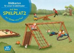 Cover-Bild zu Lehner, Monika: Auf dem Spielplatz mit Emma und Paul. Bildkartenset
