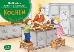 Cover-Bild zu Lehner, Monika: Kochen mit Emma und Paul. Kamishibai Bildkartenset