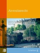 Cover-Bild zu Anwaltsrecht von Brunner, Alexander