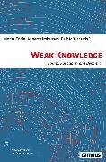 Cover-Bild zu Weak Knowledge (eBook) von Imhausen, Annette (Beitr.)