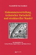Cover-Bild zu Huber, Gerhard (Hrsg.): Einkommensverteilung, technischer Fortschritt und struktureller Wandel