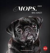 Cover-Bild zu Heye (Hrsg.): Mops Postkartenkalender 2022