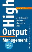 Cover-Bild zu High Output Management