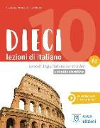 Cover-Bild zu Dieci A2 - einsprachige Ausgabe. Kurs- und Arbeitsbuch mit Code von Naddeo, Ciro Massimo