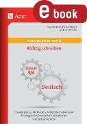 Cover-Bild zu Kompetenzerwerb Richtig schreiben 3+4 (eBook) von Pfeifer, Andreas