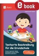 Cover-Bild zu Textsorte Beschreibung für die Grundschule (eBook) von Kroll-Gabriel, Sandra