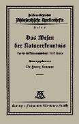 Cover-Bild zu Das Wesen der Naturerkenntnis (eBook) von Kramer, Franz