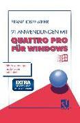 Cover-Bild zu 91 Anwendungen mit Quattro Pro für Windows (eBook) von Mehr, Franz Josef