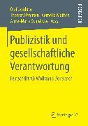 Cover-Bild zu Publizistik und gesellschaftliche Verantwortung (eBook) von Mothes, Cornelia (Hrsg.)