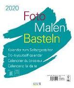 Cover-Bild zu Foto-Malen-Basteln Bastelkalender weiß groß 2020 von Korsch Verlag (Hrsg.)
