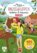 Cover-Bild zu Meine Anziehpuppen - stickern & träumen: Reiterhof von Liepins, Carolin (Illustr.)