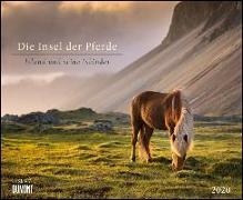 Cover-Bild zu Die Insel der Pferde: Island und seine Isländer 2020 - Pferde-Kalender im Querformat 52 x 42,5 cm