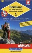 Cover-Bild zu Heidiland mit UNESCO-Welterbe Tektonikarena Saradona Wanderkarte Nr. 33. 1:50'000 von Hallwag Kümmerly+Frey AG (Hrsg.)