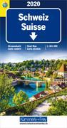 Cover-Bild zu Schweiz TCS 2020 Strassenkarte. 1:301'000 von Hallwag Kümmerly+Frey AG (Hrsg.)