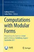 Cover-Bild zu Computations with Modular Forms von Böckle, Gebhard (Hrsg.)