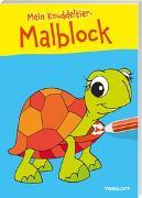 Cover-Bild zu Mein Knuddeltier-Malblock gelb. Ab 4 Jahren von Poppins, Oli (Illustr.)