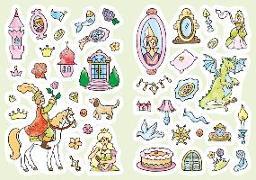 Cover-Bild zu Glitzer-Sticker-Malbuch. Prinzessinnen-Schloss von Durczok, Marion (Illustr.)