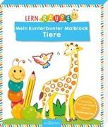 Cover-Bild zu Lernraupe - Mein kunterbunter Malblock Tiere