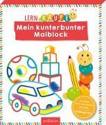Cover-Bild zu Lernraupe - Mein kunterbunter Malblock