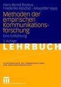 Cover-Bild zu Methoden der empirischen Kommunikationsforschung