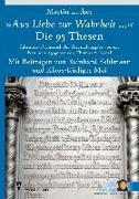 """Cover-Bild zu Luther, Martin: """"Aus Liebe zur Wahrheit ..."""""""