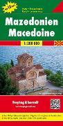 Cover-Bild zu Mazedonien, Autokarte 1:200.000, Top 10 Tips. 1:200'000 von Freytag-Berndt und Artaria KG (Hrsg.)
