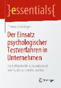 Cover-Bild zu Der Einsatz psychologischer Testverfahren in Unternehmen (eBook) von Steininger, Thomas