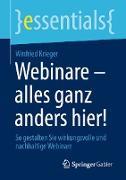 Cover-Bild zu Webinare - alles ganz anders hier! (eBook) von Krieger, Winfried