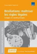 Cover-Bild zu Résiliations: maîtriser les règles légales von Wachter, Thomas