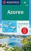 Cover-Bild zu KOMPASS Wanderkarte Azoren. 1:50'000