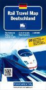 Cover-Bild zu Rail Travel Map Deutschland. 1:800'000 von Hallwag Kümmerly+Frey AG (Hrsg.)
