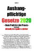 Cover-Bild zu Aushangpflichtige Gesetze 2020 Gesamtausgabe von Scholl, Jost