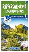 Cover-Bild zu Rapperswil - Jona Toggenburg West 14 Wanderkarte 1:40 000 matt laminiert. 1:40'000