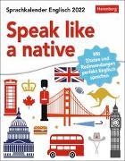 Cover-Bild zu Cordero Sapién, Josephine: Speak like a native Kalender 2022
