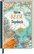 Cover-Bild zu Eintragbuch mit Sammeltasche - Mein Reisetagebuch (Landkarte)