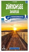 Cover-Bild zu Zürichsee - Zugersee 13 Wanderkarte 1:40 000 matt laminiert. 1:40'000