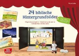 Cover-Bild zu 24 biblische Hintergrundbilder von Lefin, Petra (Illustr.)