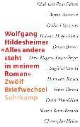 Cover-Bild zu »Alles andere steht in meinem Roman« von Hildesheimer, Wolfgang