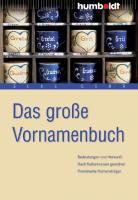 Cover-Bild zu Das grosse Vornamenbuch von Gerr, Elke