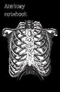 Cover-Bild zu Anatomy Notebook: Skeleton Torso Medical Student Humour Homework Book Notepad Notebook Composition and Journal Gratitude Diary Gift von Designs, Retrosun