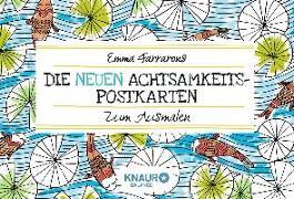 Cover-Bild zu Die neuen Achtsamkeits-Postkarten zum Ausmalen von Farrarons, Emma