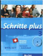 Cover-Bild zu Hilpert, Silke: Schritte plus 3. A2/1. Ausgabe Schweiz. Kurs- und Arbeitsbuch