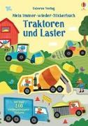 Cover-Bild zu Mein Immer-wieder-Stickerbuch: Traktoren und Laster von Watson, Hannah