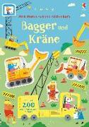 Cover-Bild zu Mein Immer-wieder-Stickerbuch: Bagger und Kräne von Watson, Hannah