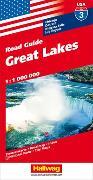 Cover-Bild zu Hallwag Kümmerly+Frey AG (Hrsg.): Great Lakes Strassenkarte 1:1 Mio., Road Guide Nr. 3. 1:1'000'000
