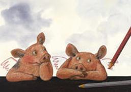 Cover-Bild zu Schwein gehabt, Signore Raffael Postkarte VE 10 von Schärer, Kathrin (Illustr.)