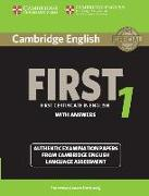 Cover-Bild zu Cambridge English First 1. Student's Book with Answers