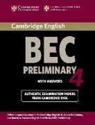 Cover-Bild zu Preliminary 4: Student's Book with Answers - Cambridge Business English Certificate BEC