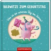 Cover-Bild zu Petersen, Caroline (Illustr.): Bildwitze zum Geburtstag