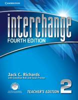 Cover-Bild zu Interchange Level 2. Teacher's Edition von Richards, Jack C.